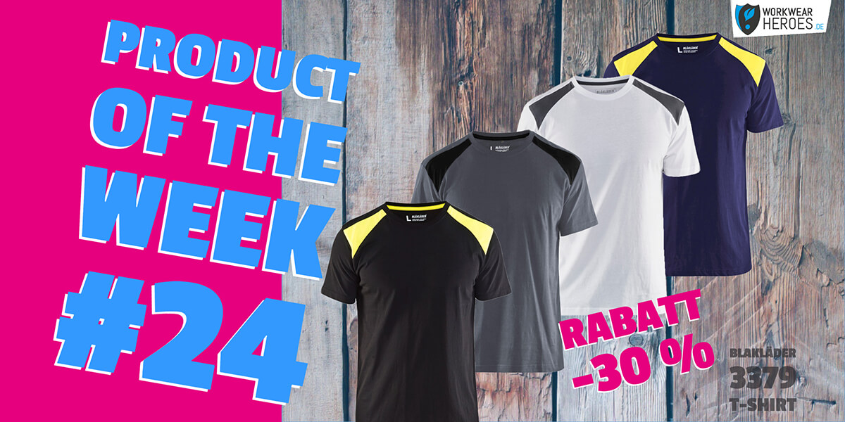 Product of the week #24: Mit dem BLAKLÄDER T-Shirt 3379 zur optimalen Arbeit