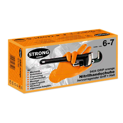 STRONGHAND GRIP ORANGE 0424 Einweg-Nitril-Handschuh, 50...